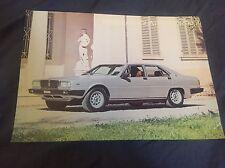 1970s Maserati Quattroporte  Color Brochure Prospekt