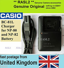 Genuine CASIO Charger BC-81L Exilim EX-H60 EX-ZS50 EX- ZS150 ZS100 ZS6 QV-R100