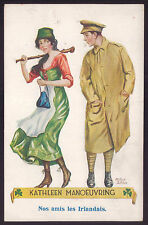 IRISH Ally Soldier Lady WWI WAR ww1 uniform Ireland. Old postcard ARTHUR BUTCH