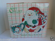 Gift Gallery By Fitz and Floyd Holiday Mug & Plate Set Santa Claus
