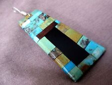 Santo Domingo Inlay Window to the Past Pendant by Ray Lovato JP0057