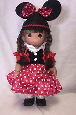 """Minnie Mouseketeer Brunette - Precious Moments 12"""" Vinyl Doll"""