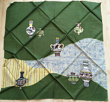Vintage Japanese green furoshiki, wrapping cloth, imported from Japan (B101)