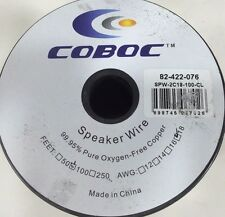 Coboc SPW-2C18-100-CL 100ft 18AWG 2-Conductor Oxygen-Free Copper OFC Speaker Wir