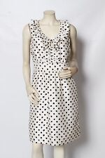 KATE SPADE Black + Cream Polka Dot NATALIA Ruffle Dress sz 8 NWT $375