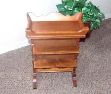 TELL CITY SMALL ACCENT TABLE STAND MAPLE WOOD VINTAGE