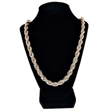 "Rope Chain Rose Gold Finish 10 mm Thick 30"" Long Twisted Heavy Dookie Necklace"