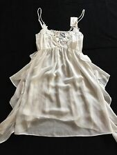 Women's JONQUIL BY DIANE SAMANDI NWT Semi Sheer Ivory Nightgown SZ S