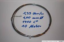 Heizdraht Chromdraht Widerstandsdraht 1400 C Brennofen 1 mm Durchmesser 1,2 Ohm