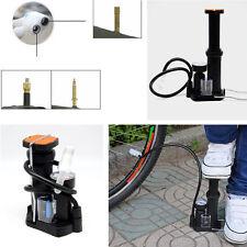 Motorcycle Bike Pressure Gauge Wheel Tyre Tire Tube Inflator Pedal Pump Portable