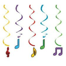 """MUSICAL""   Pack of 5 -  Dancing Musical Notes Dizzy Danglers !"