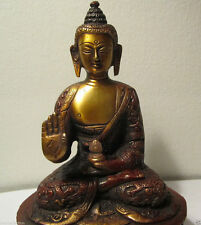 GIFT & DECOR VINTAGE COPPER FINISH BUDDHA BLESSING SAKYAMUNI BUDDHA STATUE