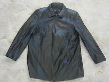 CENTIGRADE STYLISH MEN'S  BLACK  ZIP UP LEATHER JACKET SIZE LARGE~NICE~