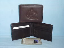 VANCOUVER CANUCKS   Leather BiFold Wallet   NEW   dkbr 3s z