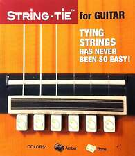 1 Set String Tie for Classical  or Flamenco Guitar, White- Bone, so easy to tie!
