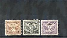 EL SALVADOR Sc C122-4(MI 657-9)**F-VF NH 1949 UPU SET $60