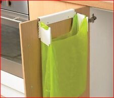 Over Door Carrier Bag Holder Waste Rubbish Kitchen Cupboard Bin Disposal Trash