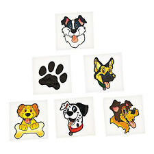 36 Assorted Fun Puppy Party Kids Temporary Tattoos Party Favors