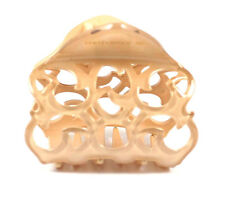 VICTORIAN FRANCE MADE ACETATE HAIR CLAMP CLAW CLIP BARRETTE C718N NUDE