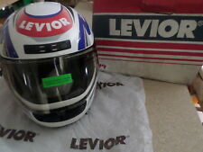 MOTORCYCLE HELMET M7 LEVIOR SIZE LARGE (L) WHITE RED BLUE M 7 R79
