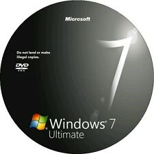 Windows 7 Ultimate bootable install reinstall recovery dvd disc x64 bit