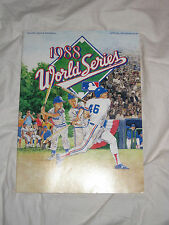 1988 World Series Program Los Angeles DODGERS CHAMPIONS Oakland A's