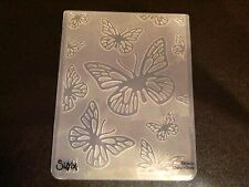 Sizzix grand 4.5x5.75in embossing folder papillon papillons s'adapte cuttlebug