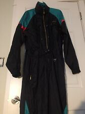 Descente Ski Snow Full Body Jump Suit hoodie Green Navy Black Men's L
