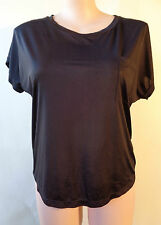 Brown Sugar size 16 lovely black top NWT New short sleeve free postage