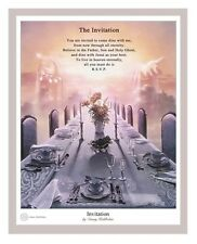 Danny Hahlbohm THE INVITATION 20x16 matted print ENGLISH poem, table in heaven