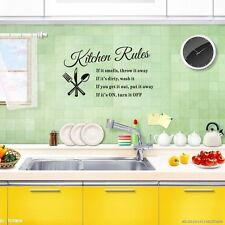 Hot Art Decals Vinyl Home Decal Decor Stickers Kitchen Rules Wall Quote Sticker