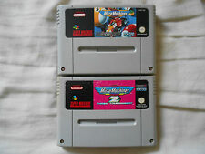 MICRO MACHINES PAL EUR & MICRO MACHINES 2 PAL FAH SUPERNINTENDO SNES JEU SPIEL