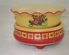 Candle/Tart Warmer (2-Piece ELECTRIC) SCALLOPED SUNFLOWER HARVEST