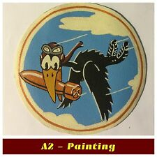 WW2 Hand Painted 670th Bomb Sqd Leather Patch For A2 / G1 Flying Jacket Copy