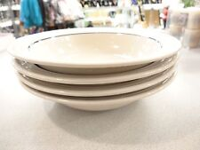 GABBAY china dinnerware by Gibson SOUP salad CEREAL bowls blue BAND EXCELLENT