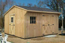 12' x 14' Garden Storage Saltbox Style Shed Plans, Design #71214