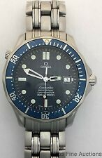 Genuine Omega Seamaster Blue Dial Bezel Automatic Stainless Steel Watch to Fix
