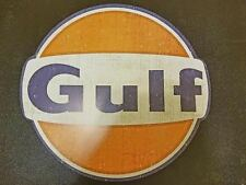 "NEW 28"" LARGE GULF METAL Home Wall Art Plaque gasoline oil shop (FAST SHIPPING)"