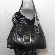Kenneth Cole Black Leather Shoulder Bag Purse Tote