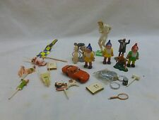 Vtg Cake Topper Decorations Disney Christmas Sports Pin up Diorama Minatures Lot