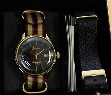 NEW Accurist Men's Vintage Nato Watch with Interchangeable Leather Strap