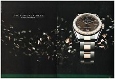 Publicité Advertising 2011 (2 pages) La Montre Datejust lady 31 Par Rolex