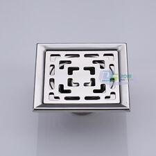 New Stainless Steel Deodorizing Bathroom Shower Floor Drain Waste Grate 10x10cm