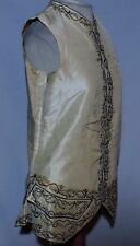 RARE 1750-60's Hand Embroidered Mans Waistcoat / Vest Sm - France