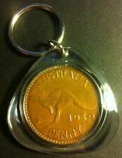 Awesome Collectible Australian 1939 Melbourne Mint Birthday Penny Key Ring