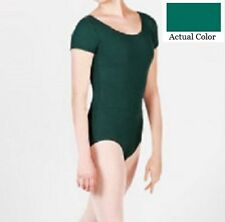 Mondor 496 Women's Size Medium (8-10) Hemlock Green Short Sleeve Leotard