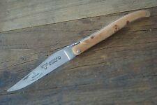 Laguiole en Aubrac 12 cm Wacholder Plein Klinge Karbonstahl wahlweise geschwärzt