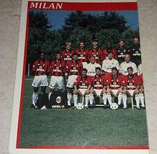FIGURINA CALCIATORI PANINI 1998/99 MILAN SQUADRA ALBUM 1999