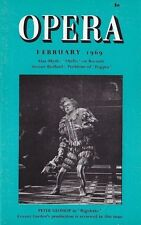 Opera Magazine 1969 Feb : PETER GLOSSOP, HUGUES CUENOD, VICTORIA DE LOS ANGELES