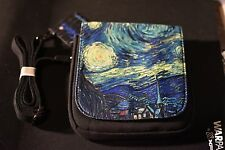 VINCENT VAN GOGH STARRY NIGHT Canvas Sling Bag Small Purse art hippie goth NWT